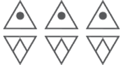 triangle icon pattern